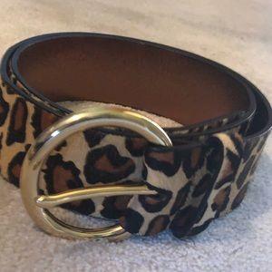 Michael Kors leopard belt